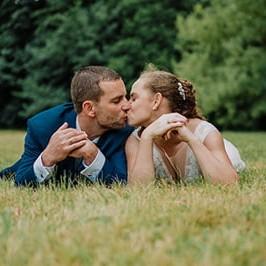 Hochzeitstag Fotosession Brautpaar