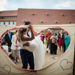 Hochzeitsfotograf_Hochzeitsempfang_Ausschneiden_Herz