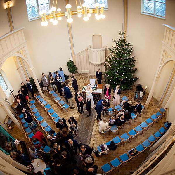 Hochzeitsfotografie_nach_der_Zeremonie_Vogelperspektive